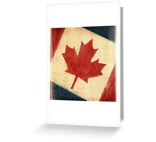 Canada flag Greeting Card