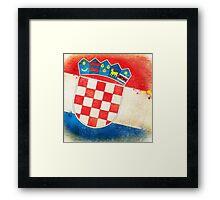 Croatia flag Framed Print
