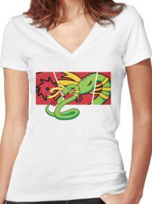 Choker 2 Women's Fitted V-Neck T-Shirt