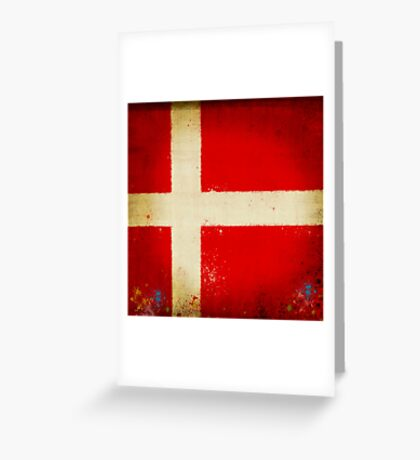 Denmark flag Greeting Card