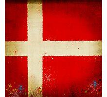 Denmark flag Photographic Print