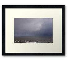 Storm at the Coast Framed Print