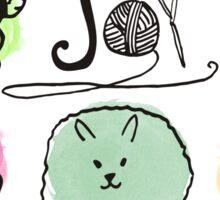 Joy knitting needles crochet hooks yarn sheep angora Sticker