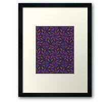 Paisley Purple Pop Framed Print