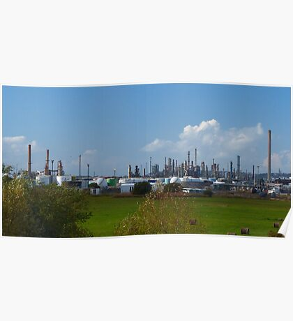 the oil refinery Poster
