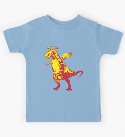 Angel Rex (yellow and red) Kids Tee