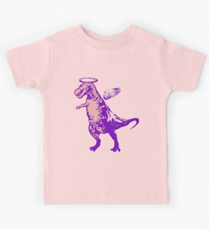 Angel Rex (purple and pink) Kids Tee