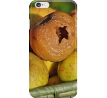 Rotten apple in the basket iPhone Case/Skin