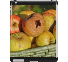 Rotten apple in the basket iPad Case/Skin