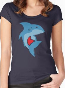 Shark Love Women's Fitted Scoop T-Shirt