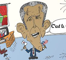Victorieux Barack Obama caricature by Binary-Options