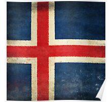 Iceland flag  Poster