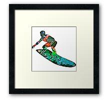Retro surfer Framed Print