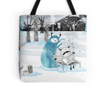 Snow Monster Tote Bag