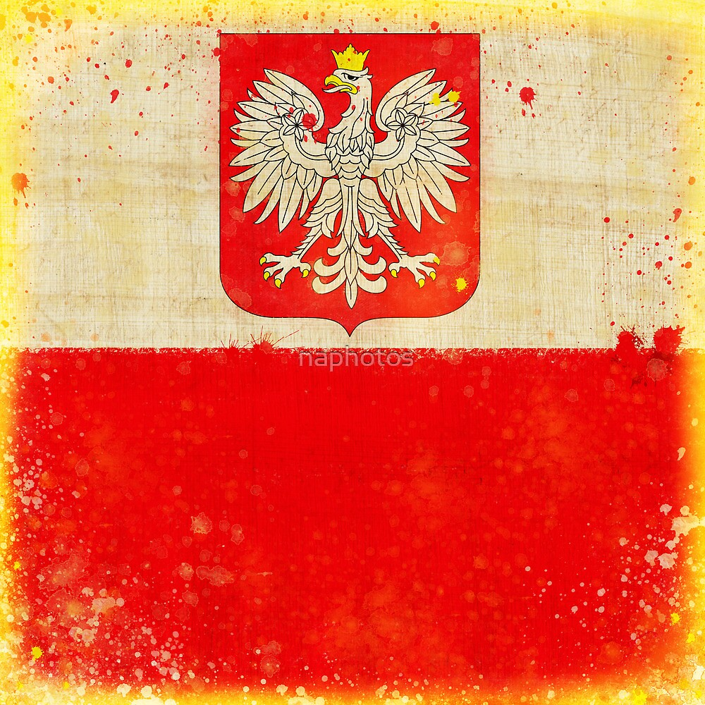 Poland flag by naphotos