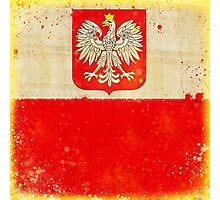 Poland flag Photographic Print