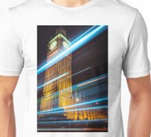 Big Ben with Light Trails Unisex T-Shirt