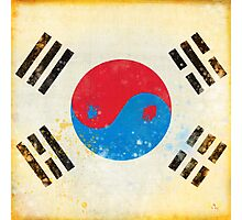 south Korea flag Photographic Print