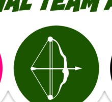 Original Team Arrow - Colorful Symbols - Weapons Sticker