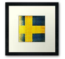 Swedish flag Framed Print
