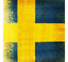 Swedish flag Photographic Print