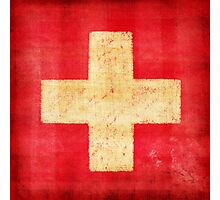 Switzerland flag Photographic Print