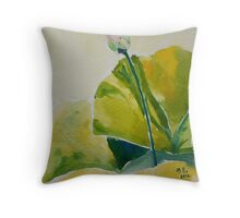 New Born Lotus Throw Pillow