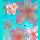 Frangipani Summer Ipad case by Cate Townsend