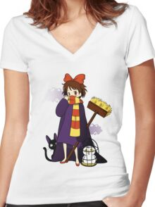 Road to Hogwarts Women's Fitted V-Neck T-Shirt