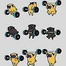 OLYMPIC LIFTING PUGS by Huebucket