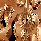 Gears inside an old clock by nadil