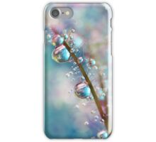 Rainbow Blue Smokey Drops iPhone Case/Skin