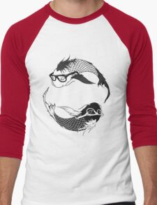 Hipster Koi Men's Baseball ¾ T-Shirt