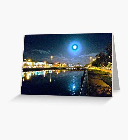 Moonlit night on Merchant´s Quay 003 Greeting Card