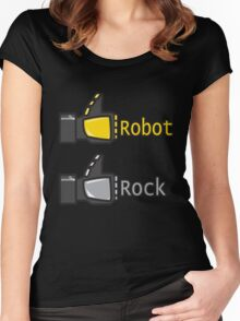 Social Robot Rock! Women's Fitted Scoop T-Shirt