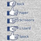 Rock, Paper, Scissors, Lizard, Spock by pixelwolfie