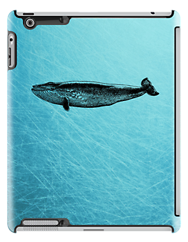 Whale iPad Case by Carol Knudsen
