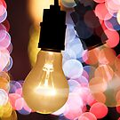 light bulb and bokeh by naphotos
