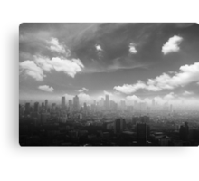 City in the  pollutions fog  Canvas Print