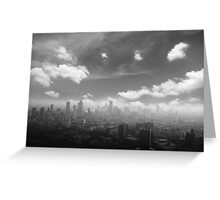 City in the  pollutions fog  Greeting Card