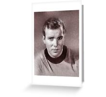 William Shatner by John Springfield Greeting Card