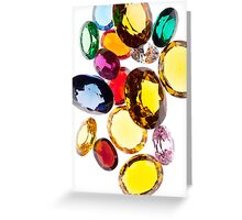 colorful gems Greeting Card