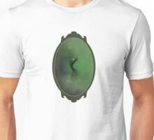 A green dragon emerging from the mist Unisex T-Shirt