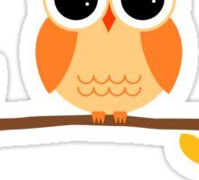 Cute Autumn Owl Sticker