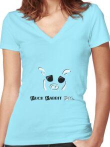 DRPig Women's Fitted V-Neck T-Shirt