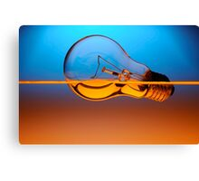light bulb in the water Canvas Print
