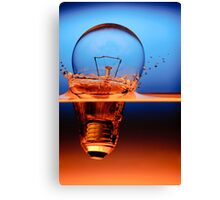 light bulb shot through the water Canvas Print