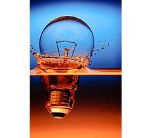 light bulb shot through the water Photographic Print