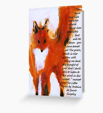 Fox - Quotes Greeting Card