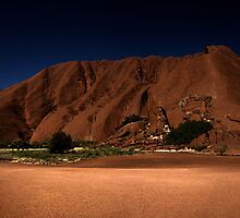 Uluru Bathed in Moonlight by Steve Bass